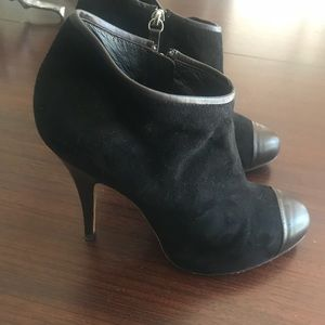 GIUSEPPE ZANOTTI black suede,brown leather boots
